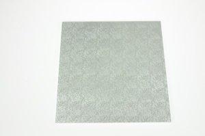 Cake Board / Tortenplatte, 35x35x1,2 cm, silberfarben