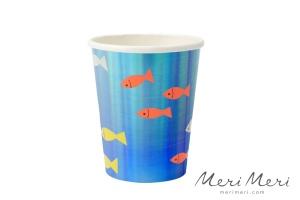 Meri Meri Becher Unterwasser, 8 Stk., 250 ml, Höhe 9 cm
