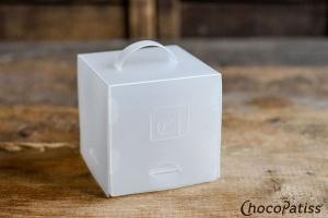 Cupcake-Box faltbar matt 10x10x10 cm, 3 Stück