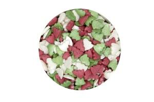 Zuckerdekor/Streudekor Tanne, rot/grün/perlmutt, 50 g