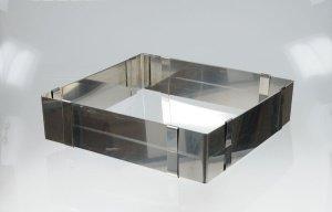 Verstellbarer Backrahmen stabil, 7 cm hoch, aus Edelstahl