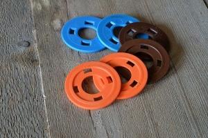 Distanzscheiben für Teigroller aus Ahornholz, für 6 + 7+ 8mm