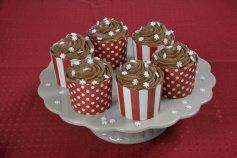 CupCake-Becher 20 Stück, Ø 6,5 cm, rot/weiß - Papier