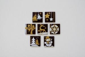 Schoko-Aufleger Weihnachten, dunkle Schokolade,18 Stück