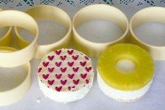 Dessertringe aus Kunststoff, 6er Set,