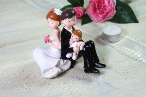 Brautpaar - Eltern mit Kleinkind Junge, 10 cm