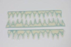 Fondant-Bordüre Eiszapfen, eisblau-weiß   -   ausverkauft