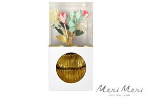 Meri Meri Cupcake Kit Blumen, Muffinform + Deko