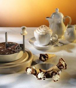 Girolle aus Kunststoff mit Messer - für Schokolade oder Käse