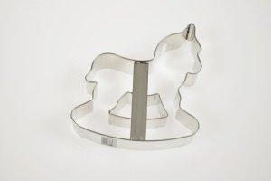 Schaukelpferd-Ausstecher 12 cm Weißblech