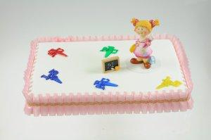 Rüschenband mit Goldborte -rosa- 5 cm breit  -  Meterware