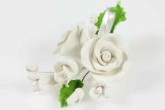 Zuckerrose weiß, 12 cm