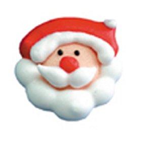 Weihnachtsmann-Kopf, Zucker-Aufleger, 16 Stück, 2,8 cm