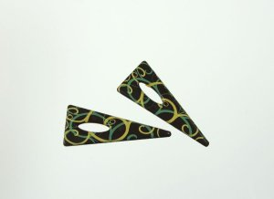 Schoko-Triangeln Ornament, dunkle Schokolade, 24 Stck.