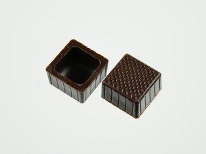 Viereck-Schalen für Pralinen Zartbitter  63 Stück