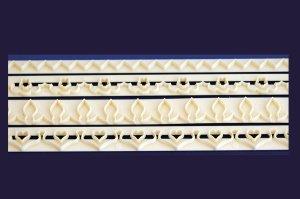 Randgarnier-Set für Blüten + Herzform, 4-teilig