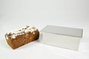 Chromstahl-Deckel zur 23 cm Vollkorn-Backform