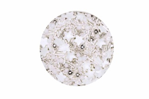 Zuckerdekor/Streudekor Sternenzauber-Mix, weiß, 60 g