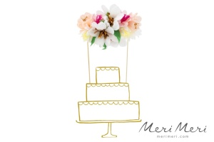 Meri Meri Cake Topper Blumen, 15,2x27 cm