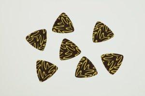 Aufleger für Dreieckschalen -Triangel - Zartbitter, 56 Stück