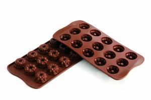 Silikonform, Silikomart Fantasia, Schokoladenform, Ø 28 mm
