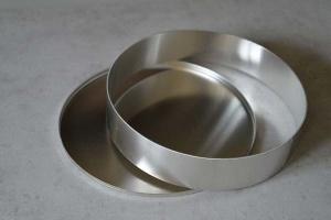 Unterblech mit Rand, aus ALU, 28,5 cm für 28 cm Ringe