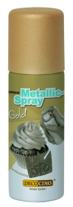 Lebensmittelfarbe Spray, metallic gold, 50 ml