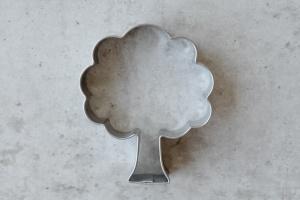 Ausstecher Laubbaum, Edelstahl, 6x5 cm