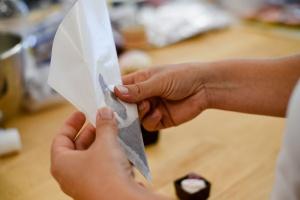 Dekor Spritztüte aus Pergamin 21 cm / 10 Stück