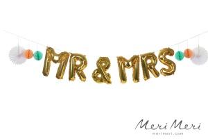 Meri Meri Ballongirlande Hochzeit, Mr & Mrs, 360x40 cm