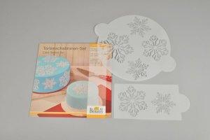 Schablonen-Set -Eiskristall- für Tortendekorationen,2tlg.