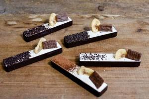 Dessertschalen Schokolade Rechteck Zartbitter, 21 Stück