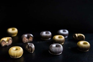Gießform Spiralen für 11 Pralinen
