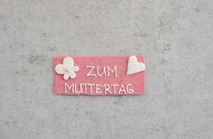 Zuckeraufleger Zum Muttertag, rosa, 8 x 3,5 cm, 6 Stück