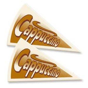 Cappuccino Dekor-Aufleger 20 Stück   55 x 30 mm
