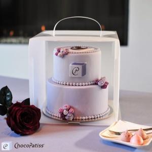 Tortenbox, faltbar, matt, 26x26x26 cm