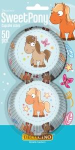 Muffinförmchen Pony, Papier, 50 Stk., Ø 5cm, H 3cm