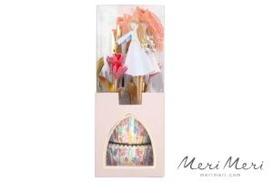Meri Meri Cupcake Kit Prinzessin, Muffinform + Deko