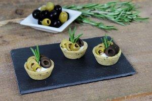 Tartelettes Mini-Snack Olive/Rosmarin, Ø 4,2 cm, 32 Stück