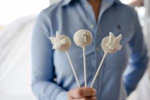 CakePopstiele / Lutscherstiele, weiß, 50 Stück, ca. 15 cm