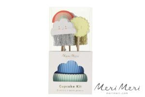 Meri Meri Cupcake Kit Wetter, Muffinform + Deko