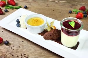 Dessertset: Vier cremige Variationen