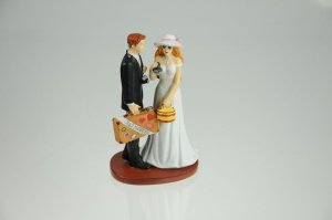 Brautpaar Just Married, 16 cm