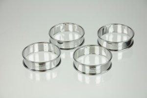 Tortenringe mini, Edelstahl, 4 Stück, Ø 8 cm, 2,5 cm hoch