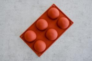 Halbkugel Backform für 6 Halbkugeln Ø 7 cm, Silikon