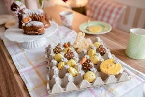 Ausgewählte Zutaten für Küken Macarons
