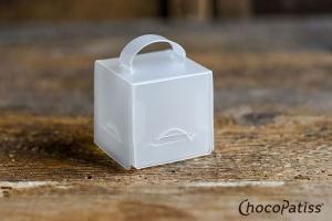 Pralinen-Box faltbar matt 4,5x4,5x4,5 cm, 5 Stück