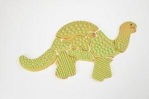 Dinosaurierpuzzle-Ausstecher 2-teilig, ca. 34 cm