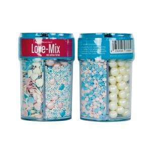 Streusel Mix Love Mix, bunt, 4-tlg., 95 g