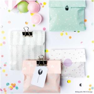 Geschenktüten Mix, Papier, bunt, 20 Stk., 12x18,5 cm
